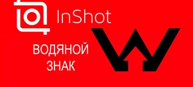 Inshot без водяного знака