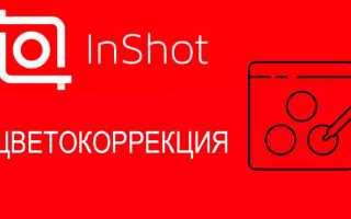 Цветокоррекция видео в приложении Inshot