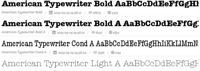Шрифт American Typewriter